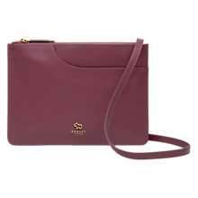 Buy Radley Pocket Leather Medium Cross Body Bag, Pink Online at johnlewis.com