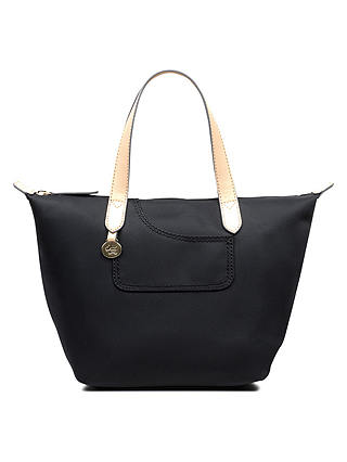 Buy Radley Pocket Essentials Fabric Small Crook Tote Bag, Black Online at johnlewis.com