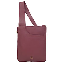 Buy Radley Pocket Bag Leather Medium Cross Body Bag, Pink Online at johnlewis.com