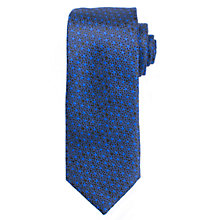 Buy John Lewis Micro Floral Silk Tie, Navy/Blue Online at johnlewis.com