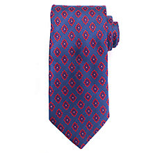 Buy John Lewis Diamond Motif Silk Tie, Blue/Pink Online at johnlewis.com