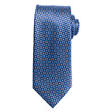 Buy John Lewis Cross Dot Silk Tie, Blue/Orange Online at johnlewis.com