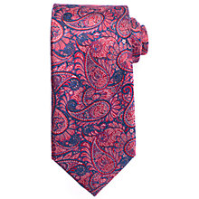Buy John Lewis Intricate Paisley Silk Tie, Pink/Navy Online at johnlewis.com