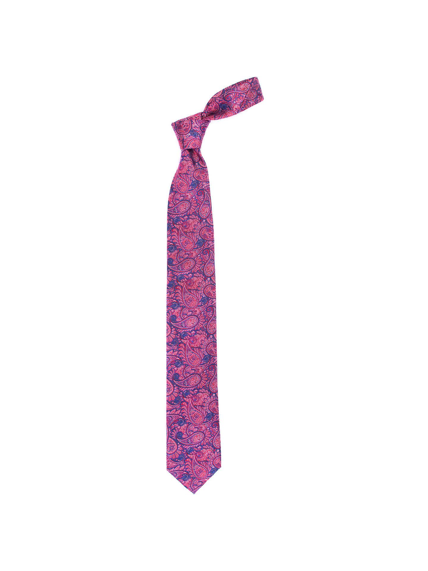 c9c0a03ea9c3 ... Buy John Lewis Intricate Paisley Silk Tie, Pink/Navy Online at  johnlewis.com ...