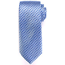 Buy John Lewis Micro Zig Zag Dot Silk Tie, Blue/Grey Online at johnlewis.com