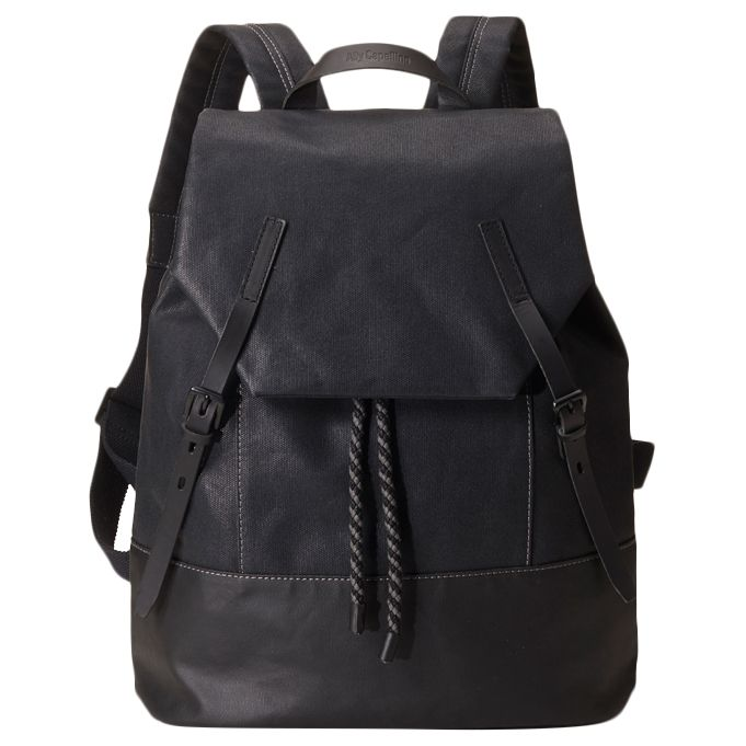 Ally Capellino Dean Waxed Canvas Backpack, Black at John Lewis   Partners b1c93ccdae