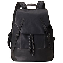 Buy Ally Capellino Dean Waxed Canvas Backpack, Black Online at johnlewis.com