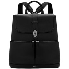 Buy Mulberry Reston Leather Backpack, Black Online at johnlewis.com