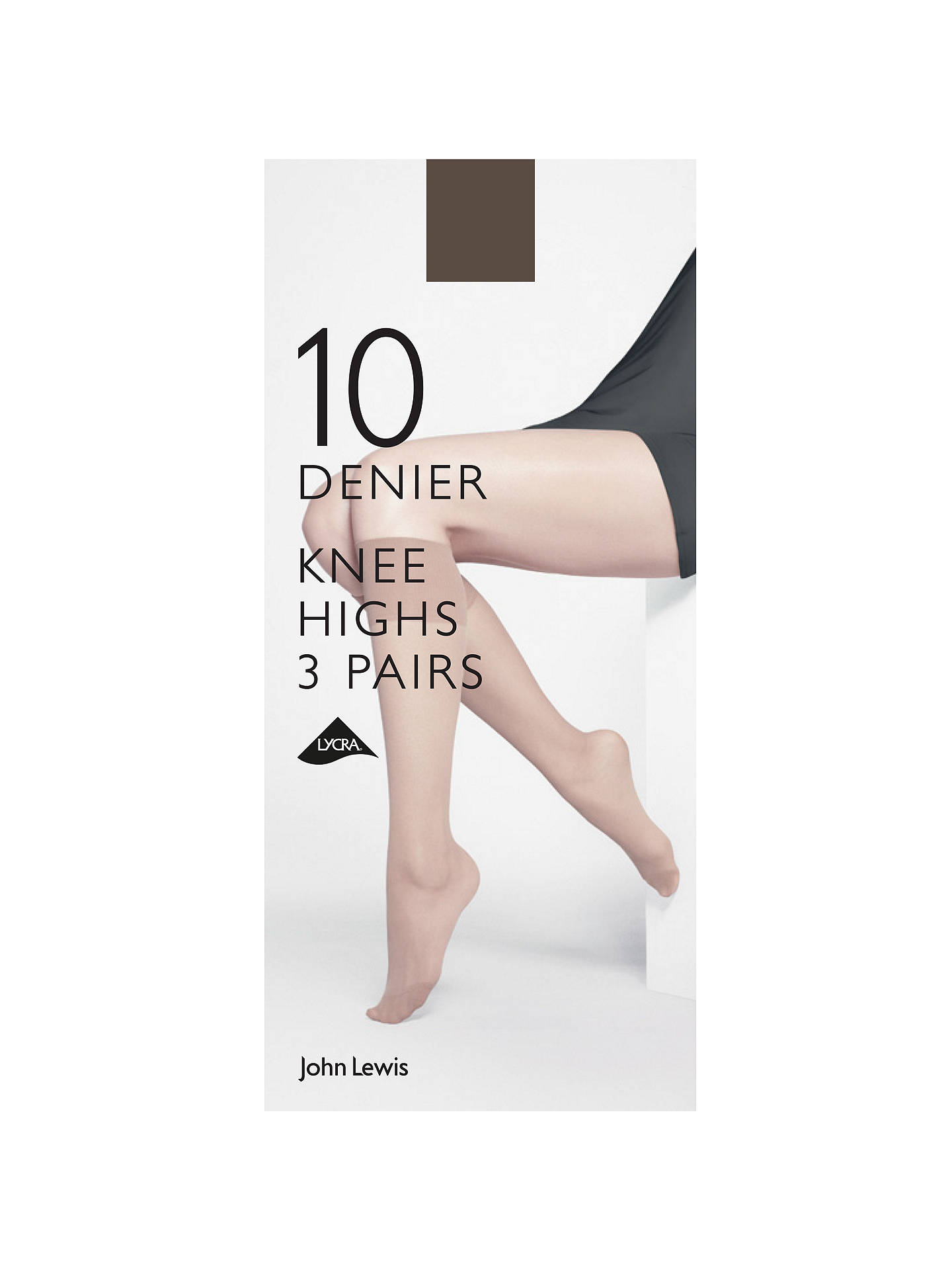 ead91d2d4 Buy John Lewis   Partners 10 Denier Knee High Socks