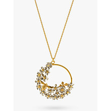 Buy Alex Monroe Flower and Bee Spring Pendant Necklace, Gold Online at johnlewis.com