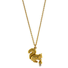 Buy Alex Monroe 22ct Gold Vermeil Squirrel And Acorn Autumn Pendant Necklace, Gold Online at johnlewis.com