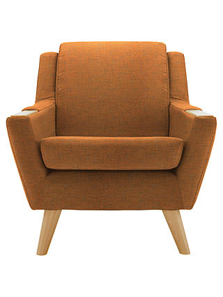 Buy G Plan Vintage The Fifty Five Armchair, Light Leg, Flurry Tangerine Online at johnlewis.com
