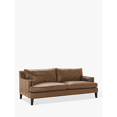 Halo Canson Large 3 Seater Leather Sofa, Riders Nut