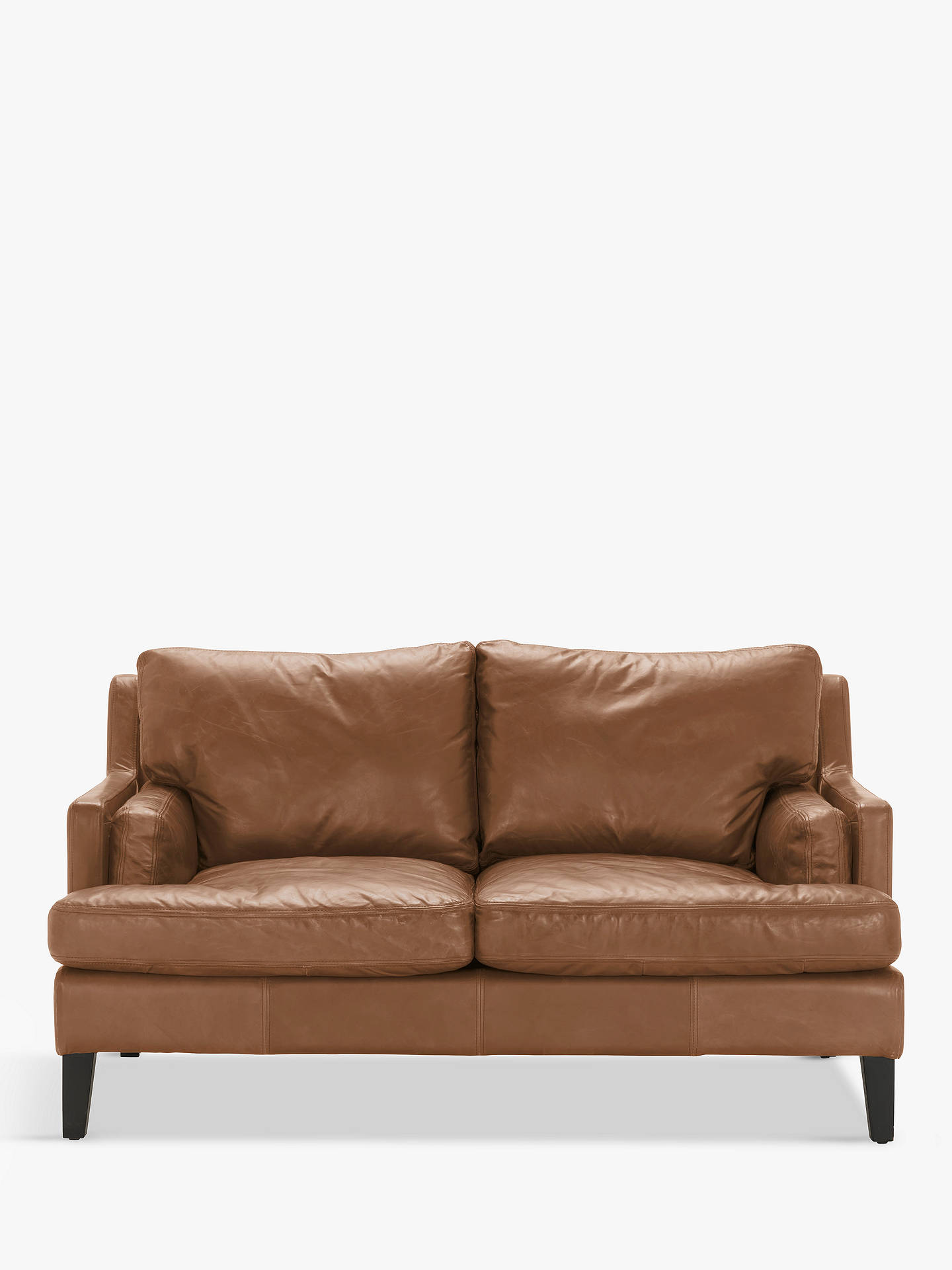 Halo Canson Medium 2 Seater Leather Sofa Riders Nut Online At Johnlewis