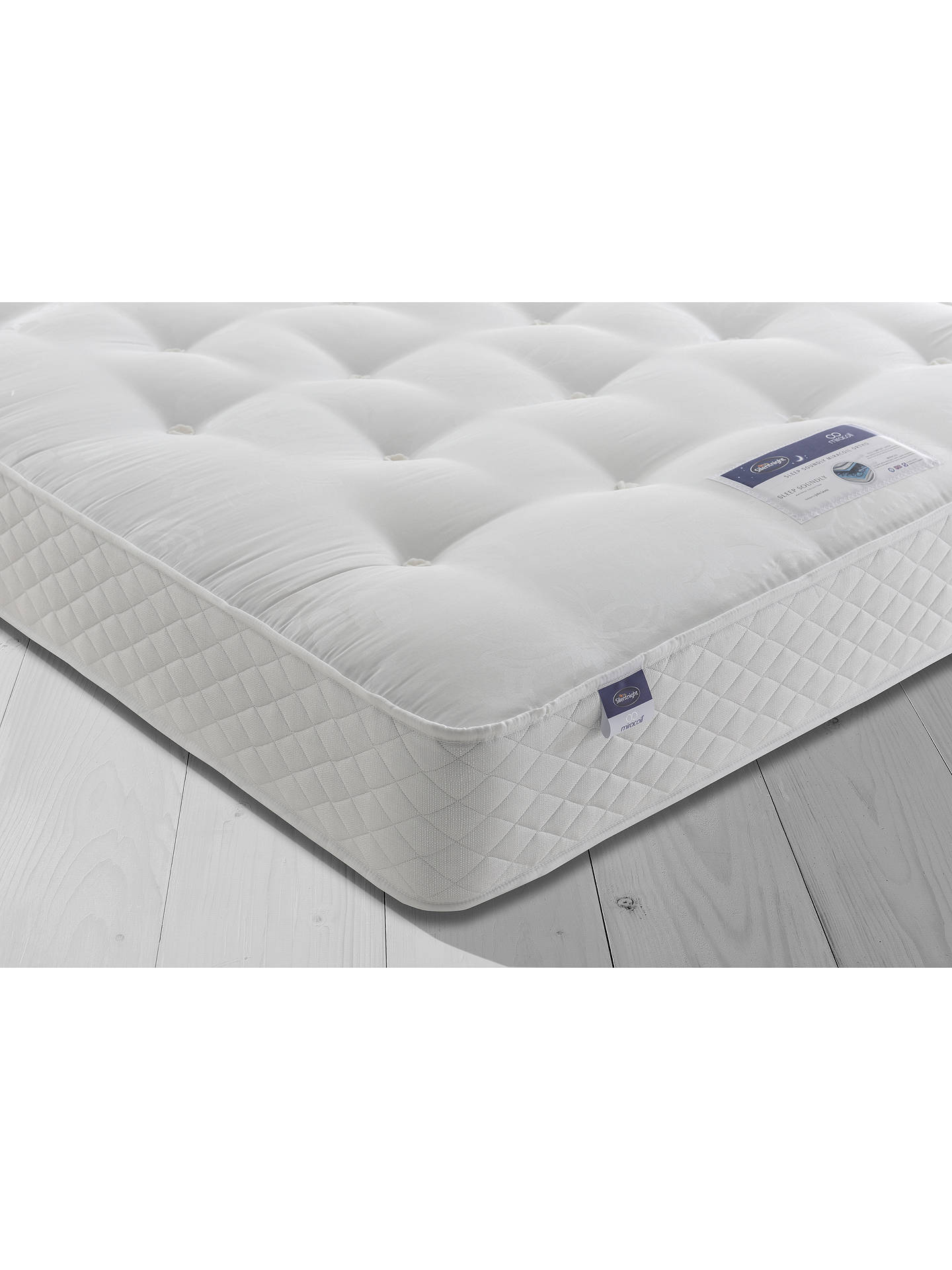 BuySilentnight Sleep Soundly Miracoil Ortho Divan Base and Mattress Set, FSC-Certified (Picea Abies, Chipboard), Firm, Double Online at johnlewis.com