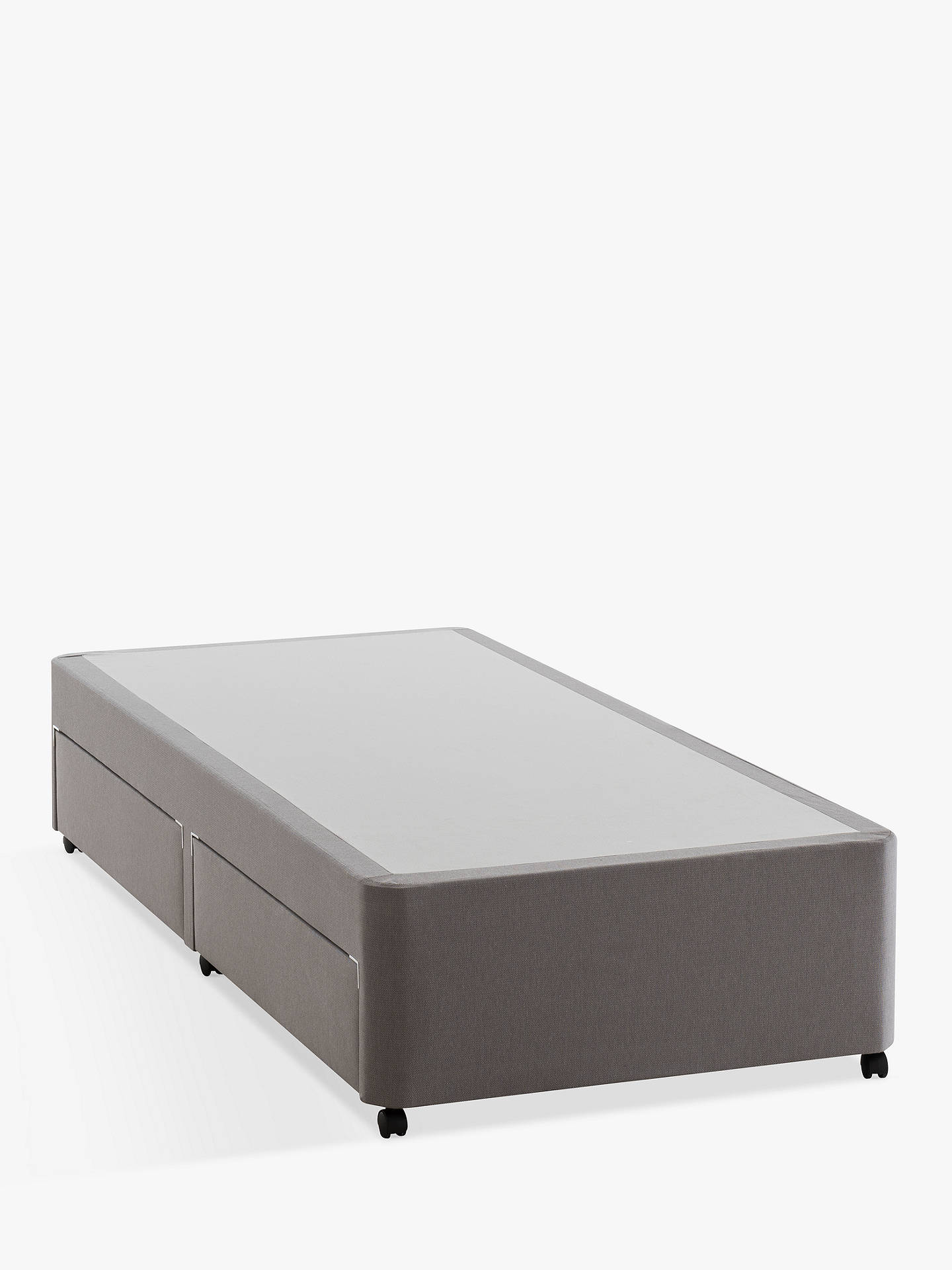 BuySilentnight Non Sprung 2 Drawer Divan Storage Bed, Single Online at johnlewis.com