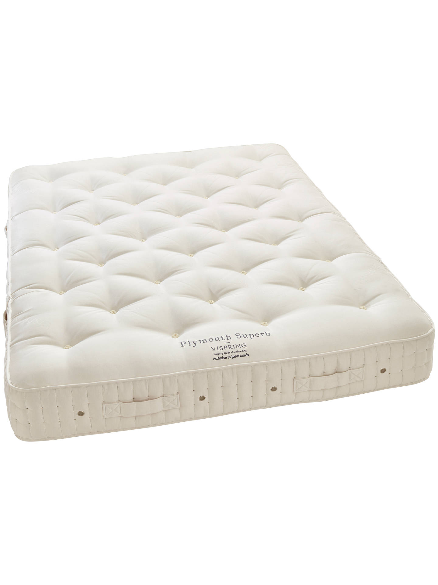 Vispring Plymouth Superb Mattress Medium King Size Online At Johnlewis Com