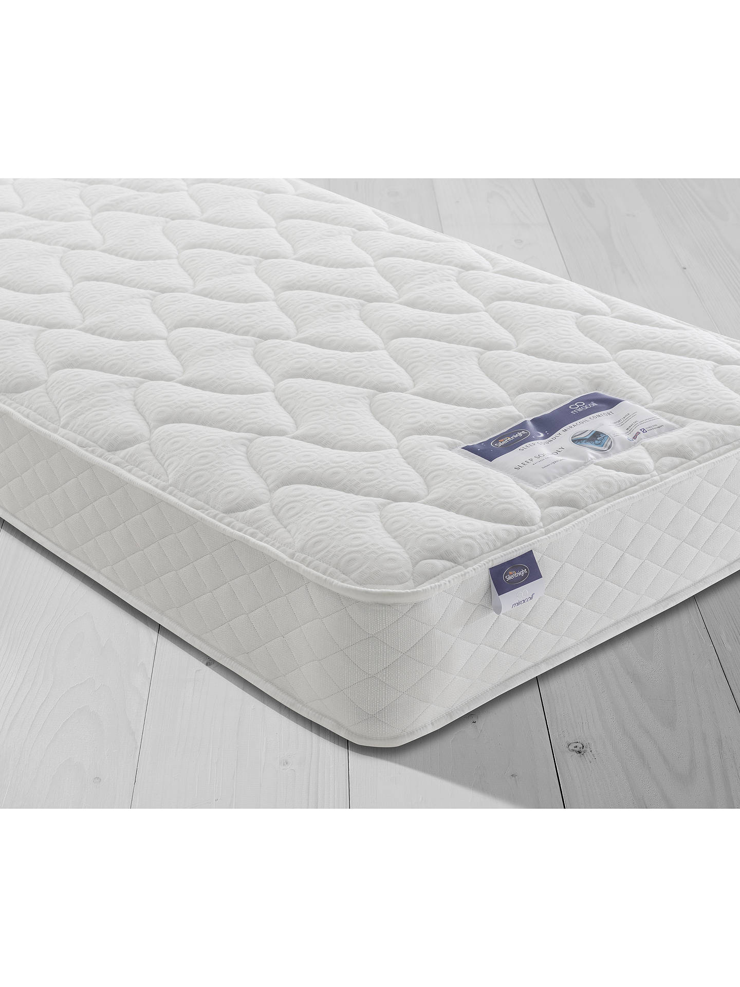 new products 2d348 187be Silentnight Sleep Soundly Miracoil Comfort Divan Base and Mattress Set,  FSC-Certified (Picea Abies, Chipboard), Firm, Single