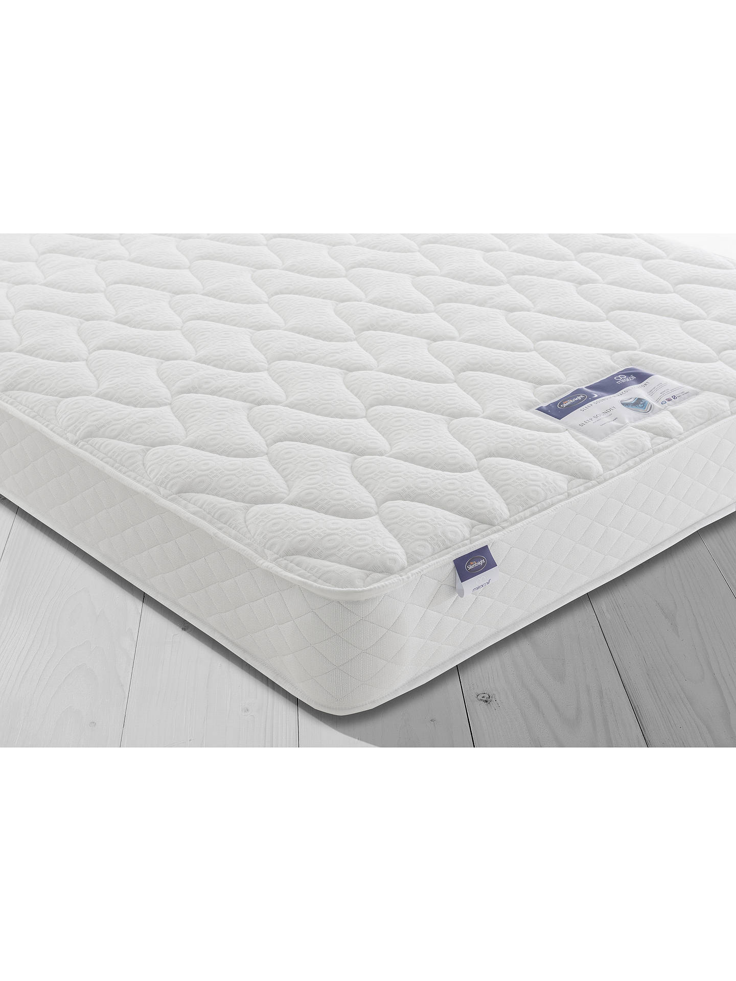 BuySilentnight Sleep Soundly Miracoil Comfort Divan Base and Mattress Set, FSC-Certified (Picea Abies, Chipboard), Firm, Double Online at johnlewis.com