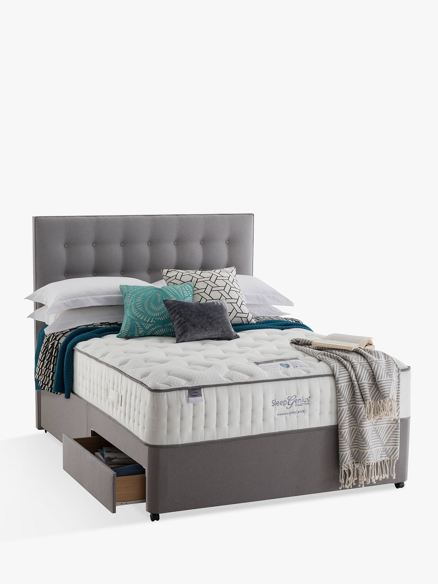 BuySilentnight Non Sprung 2 Drawer Divan Storage Bed, Super King Size Online at johnlewis.com