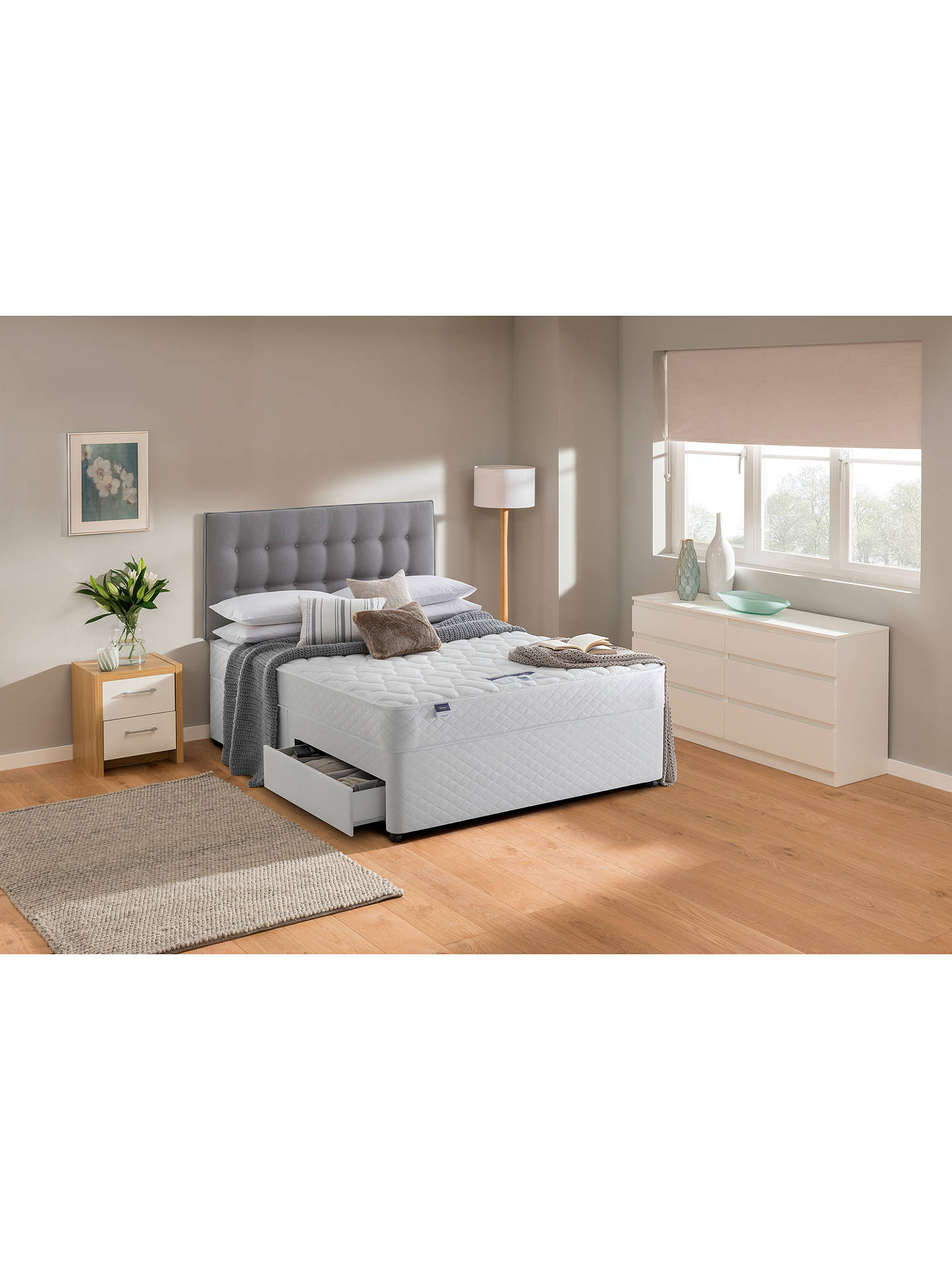 Buy Silentnight Sleep Soundly Miracoil Comfort Divan Base and Mattress Set, FSC-Certified (Picea Abies, Chipboard), Firm, Super King Size Online at johnlewis.com