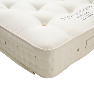 Vispring Plymouth Superb Zip Link Mattress, Medium, Super King Size