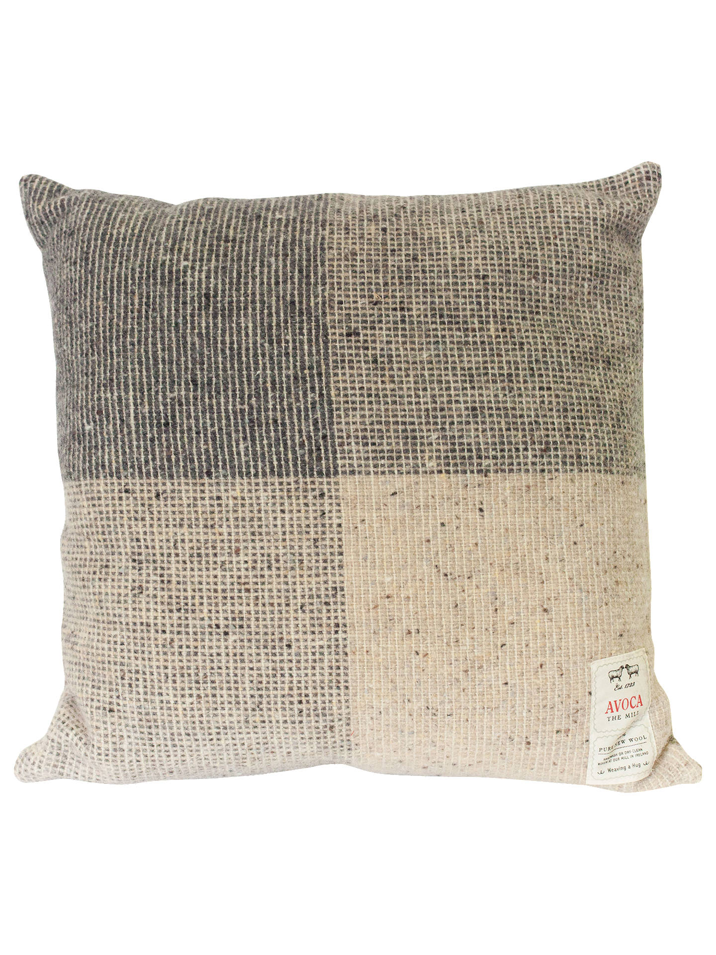BuyAvoca Artisan Block Wool Cushion Online at johnlewis.com