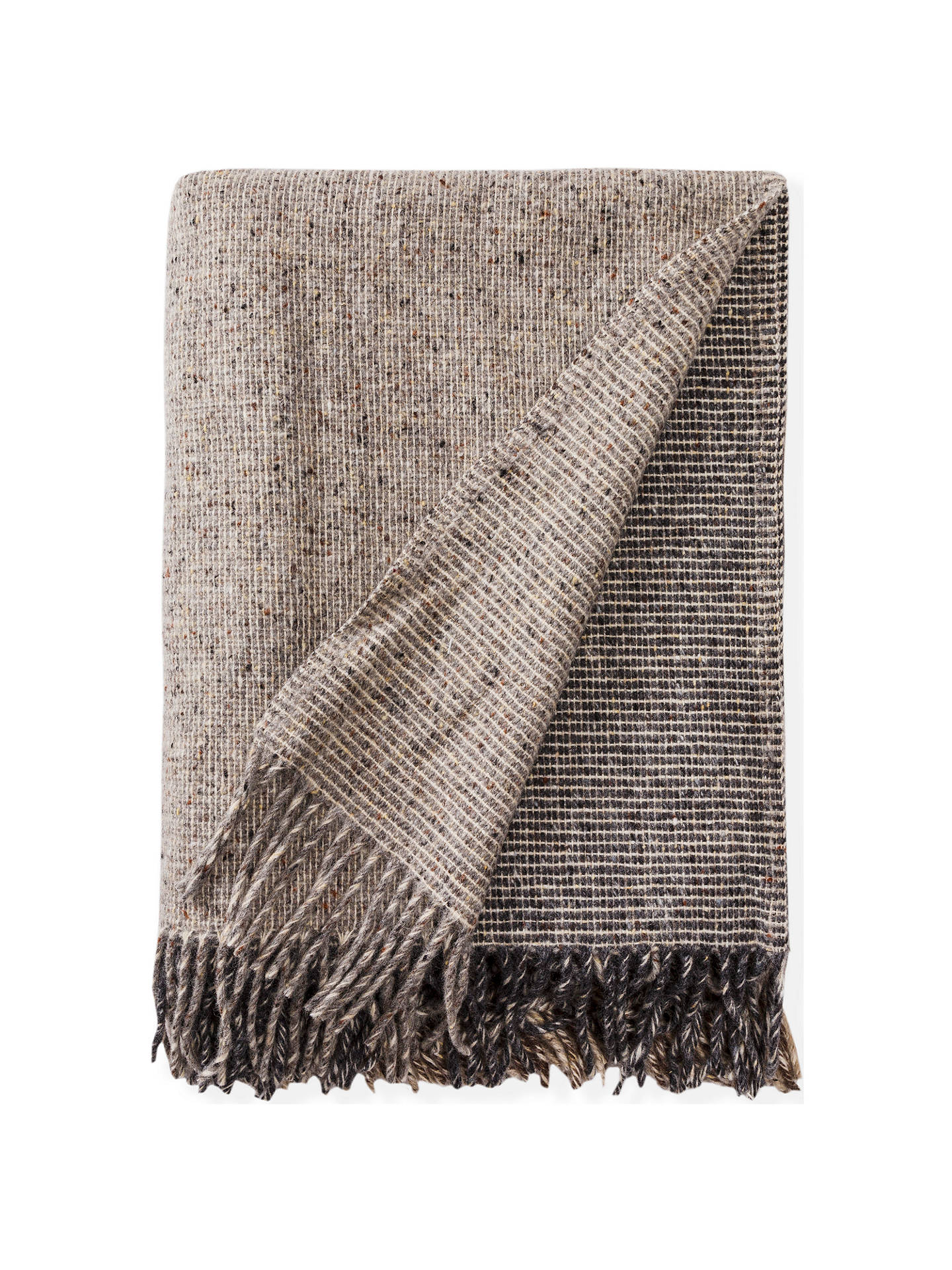 BuyAvoca Artisan Block Wool Throw, Natural Online at johnlewis.com