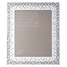 "Buy John Lewis Glitter Dots Photo Frame, 8 x 10"" (20 x 25cm), Clear Online at johnlewis.com"