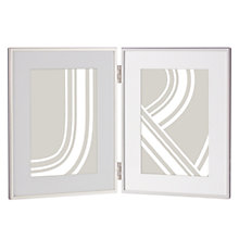 "Buy John Lewis Daya Double Photo Frame, 5 x 7"" (13 x 18cm), Silver Online at johnlewis.com"