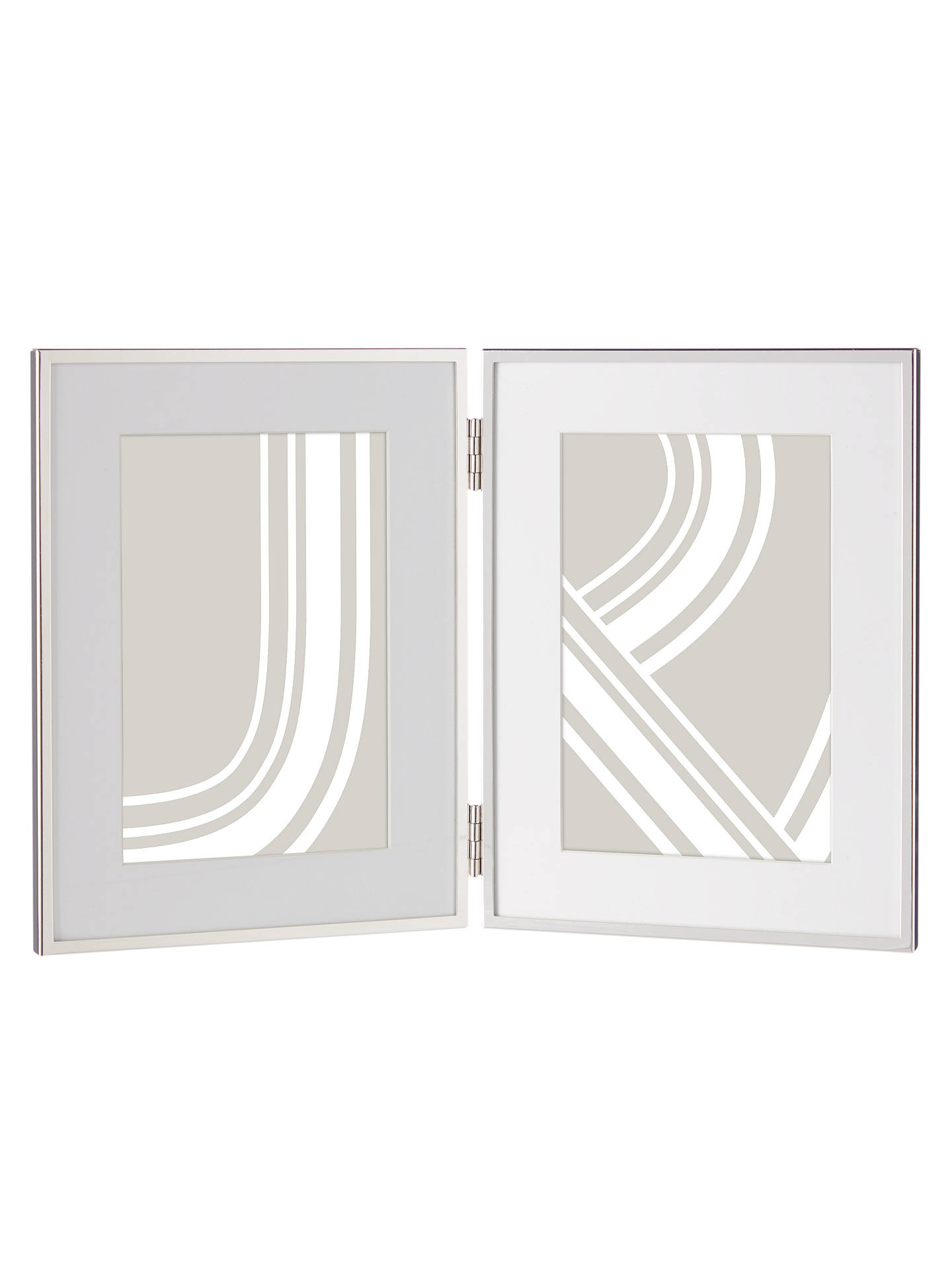 John Lewis & Partners Daya Double Photo Frame & Mount, 5 x 7\