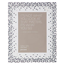 "Buy John Lewis Glitter Dots Photo Frame, 5 x 7"" (13 x 18cm), Clear Online at johnlewis.com"