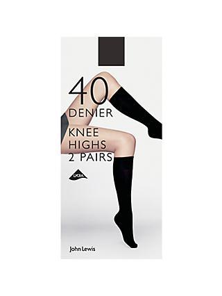 15101968b2c John Lewis   Partners 40 Denier Knee Highs