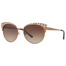 Buy Michael Kors MK1023 Evy Cat's Eye Sunglasses, Sable/Brown Gradient Online at johnlewis.com