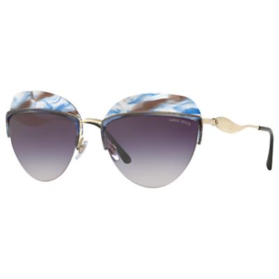 Giorgio Armani AR6061 Oval Sunglasses, Gold/Multi