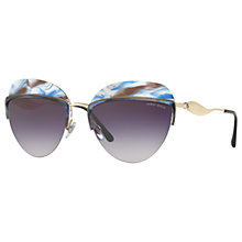 Buy Giorgio Armani AR6061 Oval Sunglasses, Gold/Multi Online at johnlewis.com