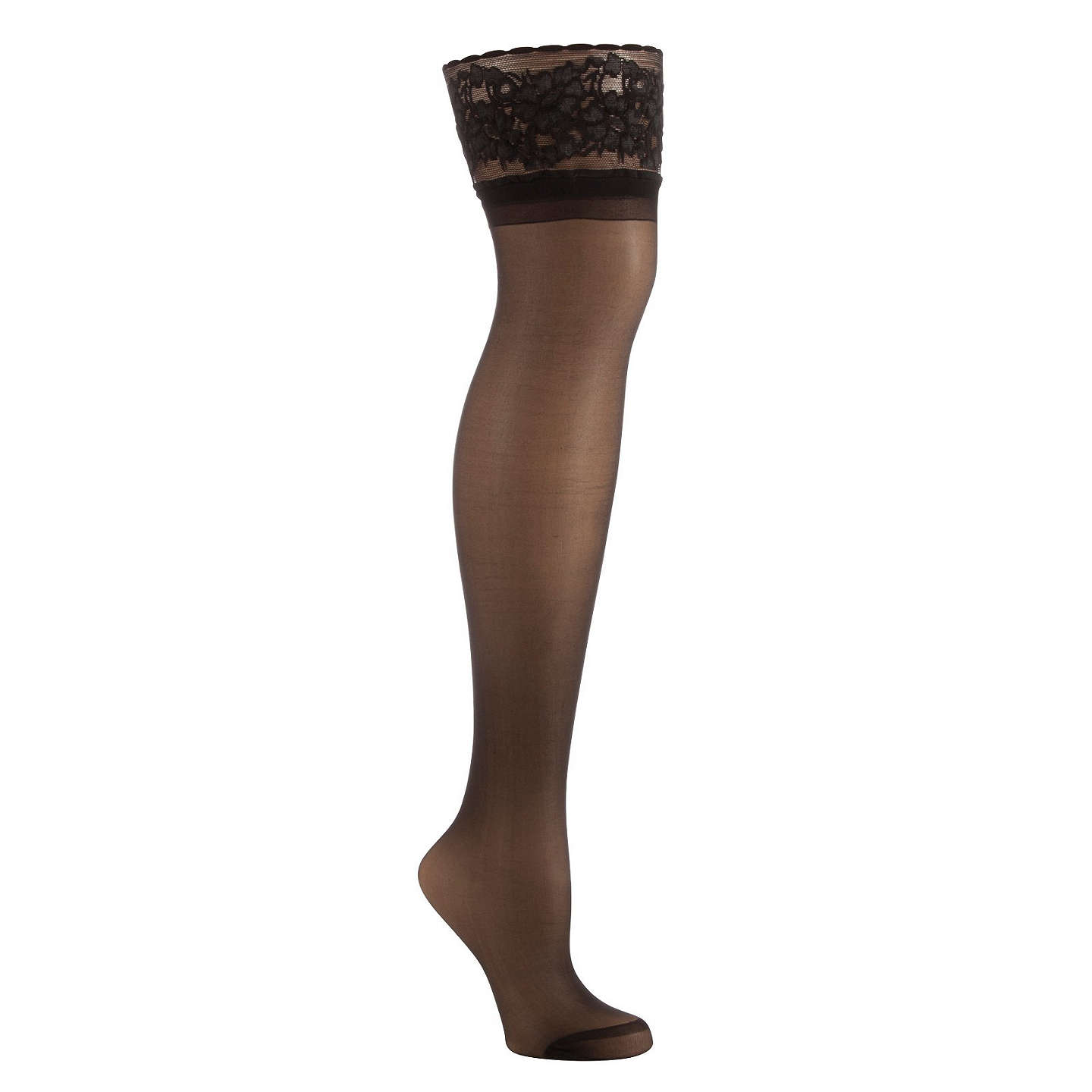 BuyJohn Lewis 7 Denier Medium Support Knee High Socks, Pack of 2, Black Online at johnlewis.com