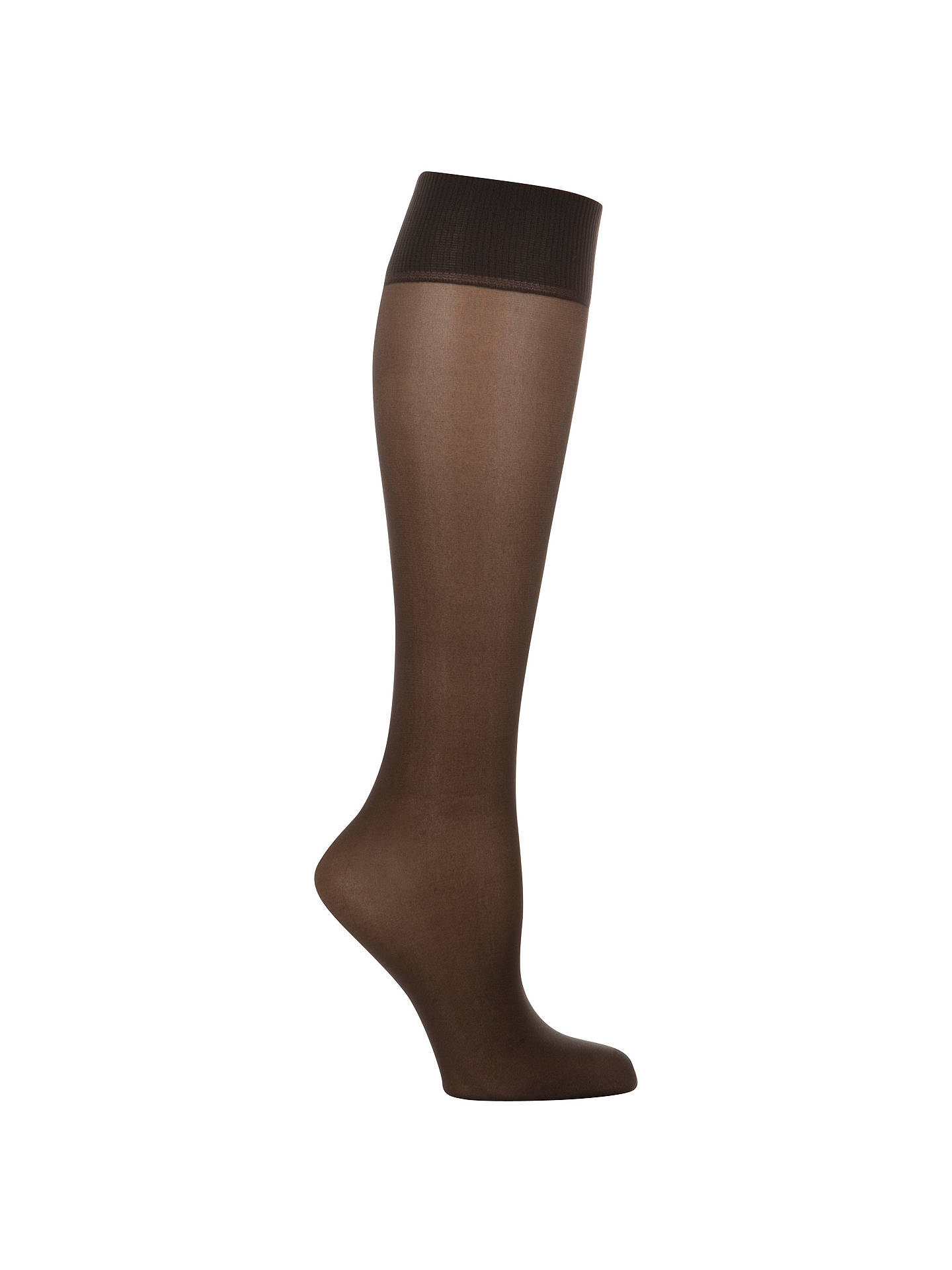 BuyJohn Lewis & Partners 15 Denier Medium Support Knee High Socks, Pack of 2, Black Online at johnlewis.com