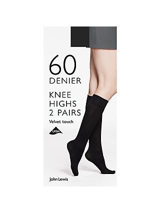 d3d1f56a3e9 John Lewis   Partners 60 Denier Velvet Touch Knee High Socks