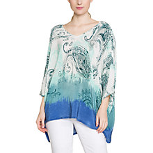 Buy East Silk Ombre Paisley Kaftan, White Online at johnlewis.com
