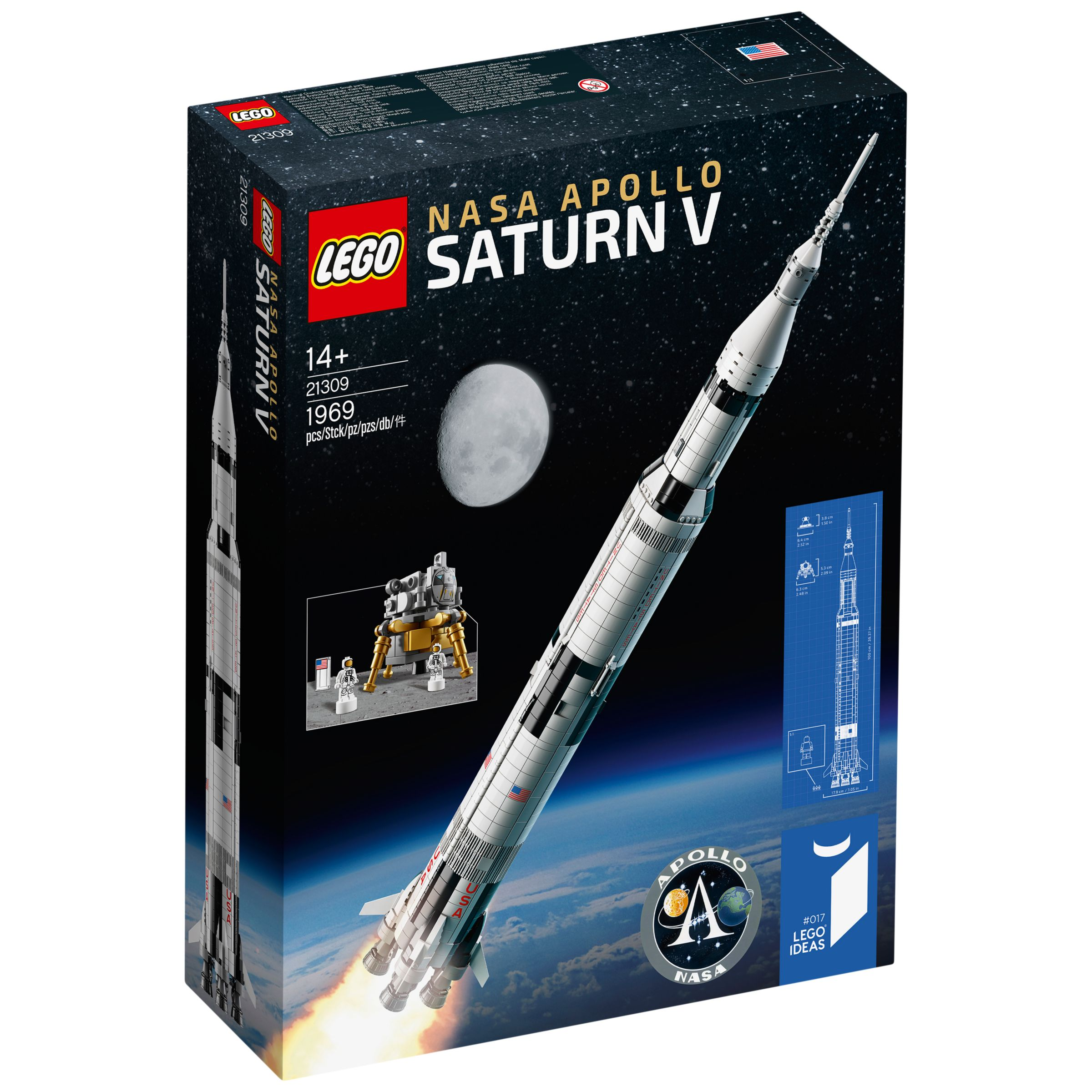 Lego Ideas 21309 Nasa Apollo Saturn V At John Lewis Partners