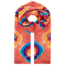 Buy East Bandhini Silk Scarf, Ginger Online at johnlewis.com