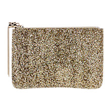 Buy Coast Carlie Glitter Pouch, Silver Online at johnlewis.com