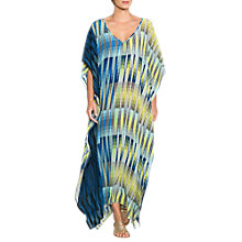 Buy East Silk Geometric Stripe Long Kaftan, Ink Online at johnlewis.com