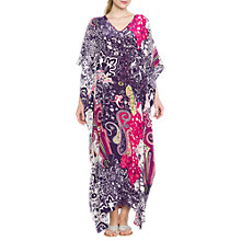 Buy East Silk Paisley Print Long Kaftan, Magenta Online at johnlewis.com