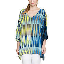 Buy East Silk Geometric Stripe Kaftan, Ink Online at johnlewis.com