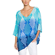 Buy East Silk Blossom Print Kaftan, Duckegg Online at johnlewis.com
