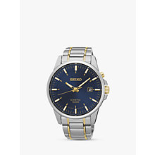 Buy Seiko SKA757P1 Men's Kinetic Date Two Tone Bracelet Strap Watch, Silver/Gold Online at johnlewis.com