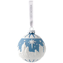 Buy Wedgwood Nativity Bauble, Blue Online at johnlewis.com