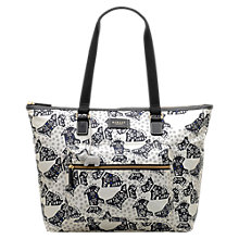 Buy Radley Folk Dog Fabric Large Tote Bag, Ivory Online at johnlewis.com